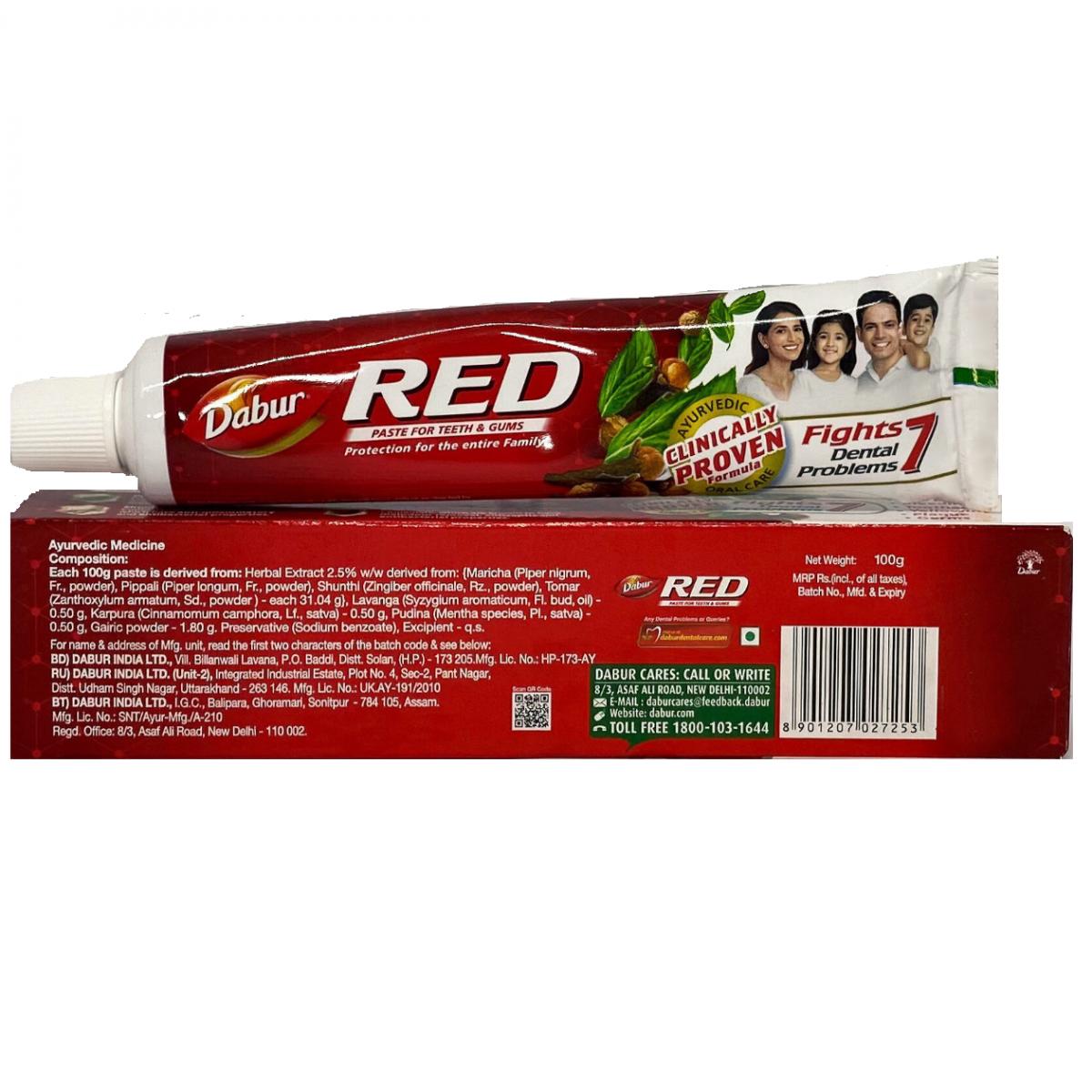 Зубная паста Ред (красная) Red Dabur 100г.